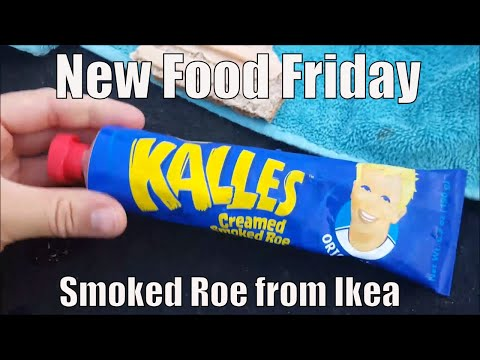 New Food Friday | Taste Test | Kalles Smoked Roe From Ikea(Sweden) In Our RV