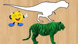 Wild Animals Wrong Shadow Matching Game For Toddlers in 3D