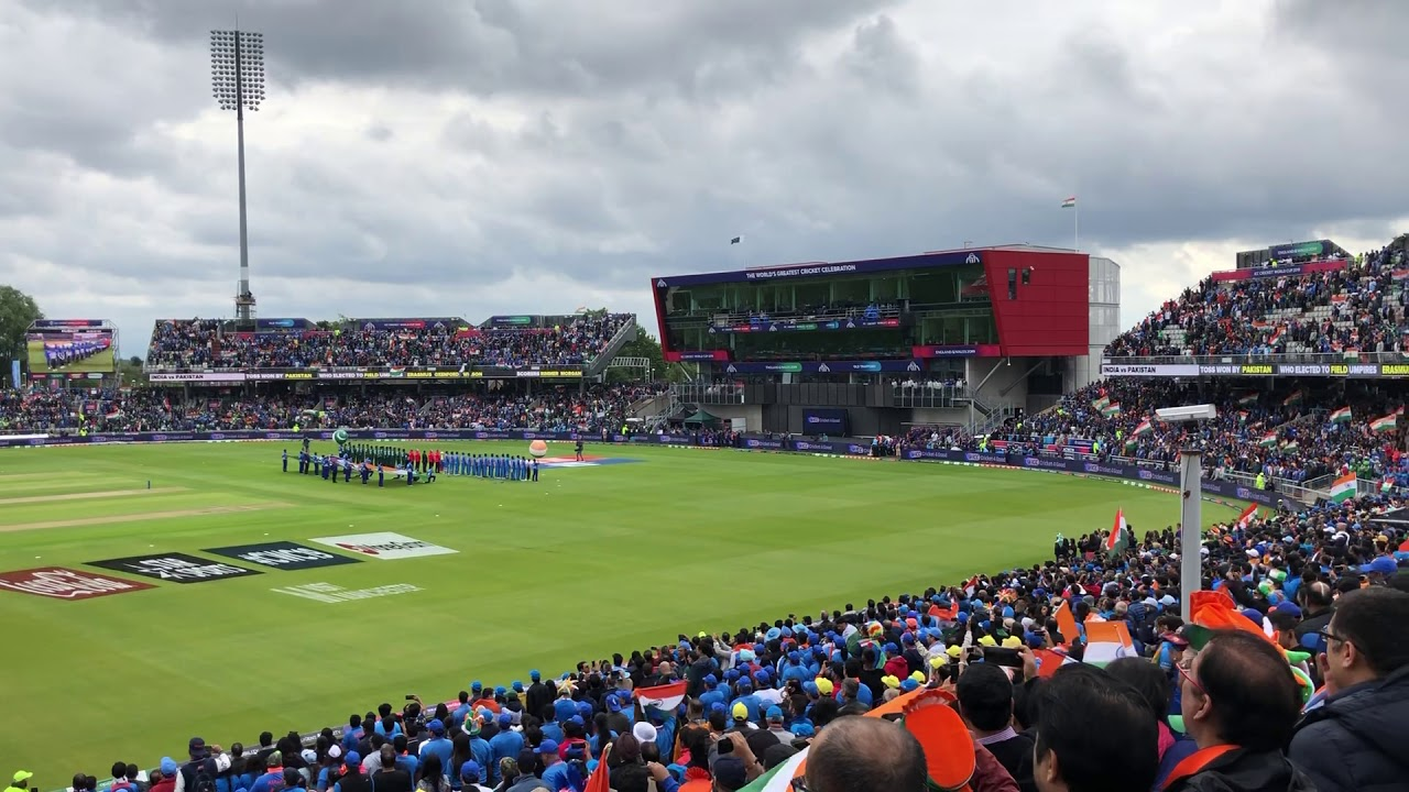 India national anthem Jana Gana Mana v Pakistan Old Trafford Cricket World Cup Sunday 16th June 2019