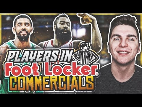 PLAYERS IN FOOT LOCKER COMMERCIALS! NBA 2K18 SQUAD BUILDER