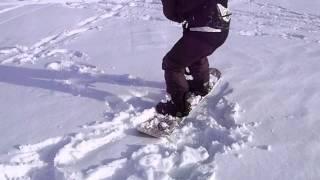 кайт обучение в Казани, Иван тренирует старт на сноуборде с кайтом