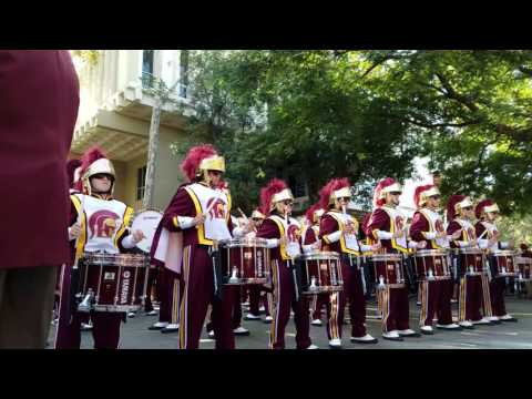 USC Trojan Marching Band - Heritage Hall, Tusk in 4K video resolution (2of6, 1m40s, Fall 2016)