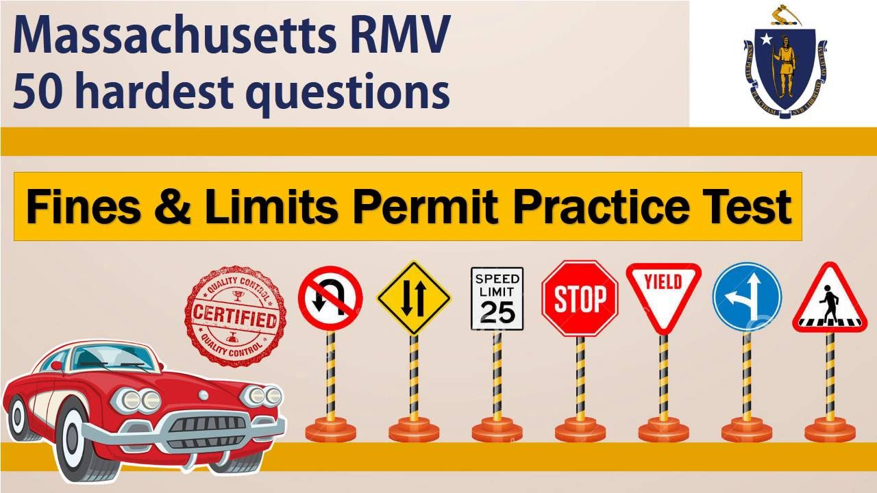 Test - Practice Fines Rmv Permit Massachusetts And Youtube Limits