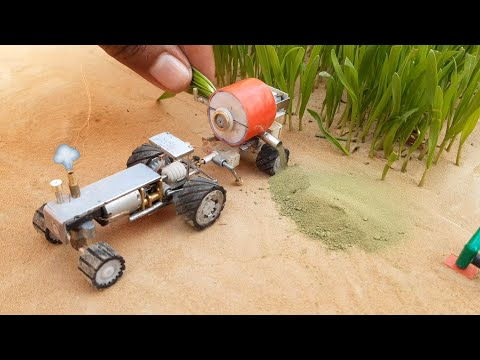 how to make thresher machine tractor motor | science project