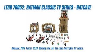 'Lego 76052: Batman Classic TV Series – Batcave' Unboxing & Review