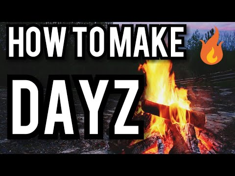 DAYZ ps4 How to make camp fire make bow drill and hand torches cook food tips and tricks gameplay