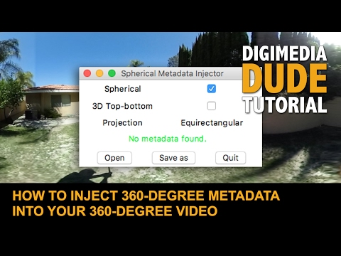 How To Inject 360-Degree Metadata Into Your 360-Degree Video