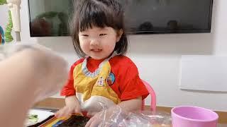 황서바리 여덟번째 브이로그 김밥만들기/롯데마트/피자/코…