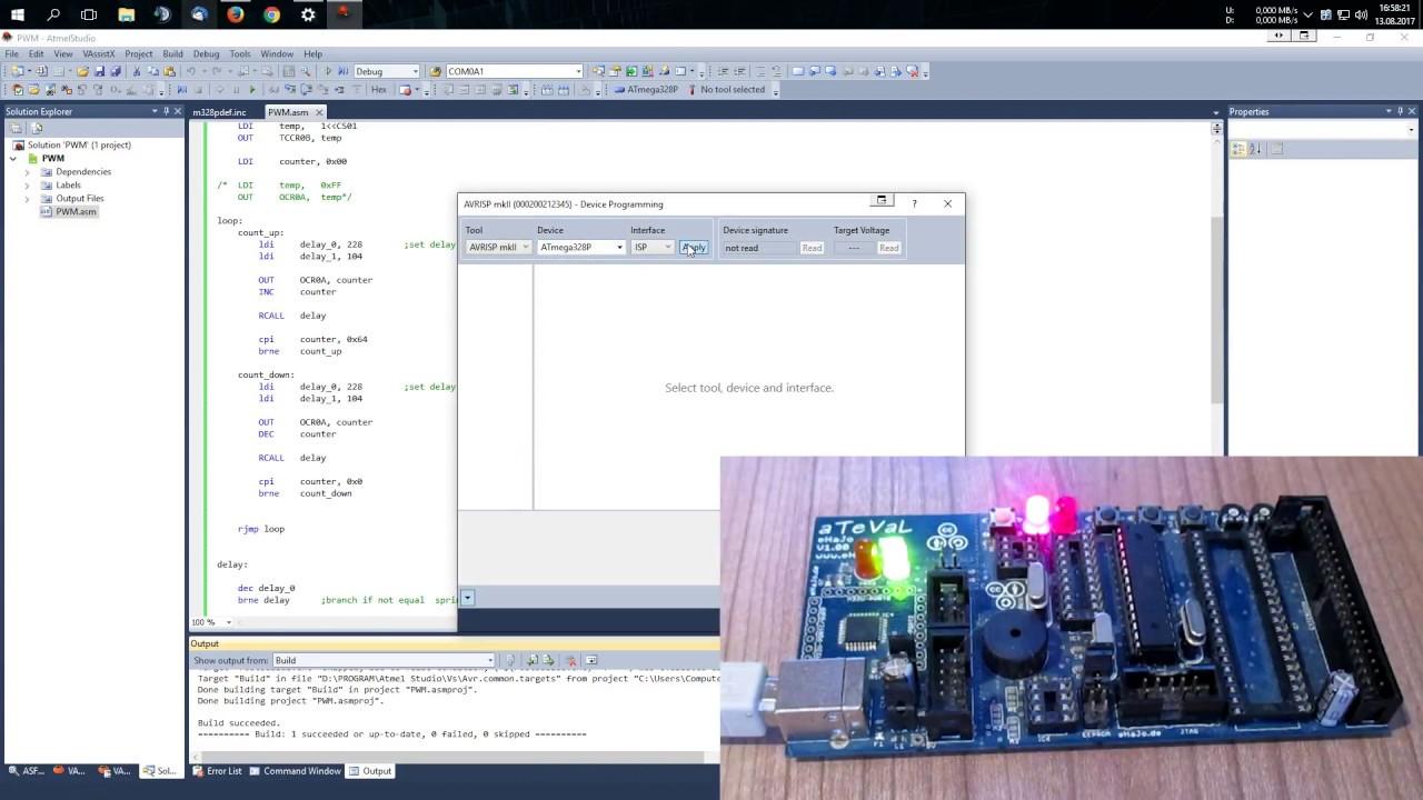 Pulsweitenmodulation / PWM verwenden - AVR Assembler Tutorial - Part 6
