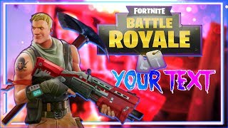 FORNITE BATTLE ROYALE - THUMBNAIL TEMPLATE PHOTOSHOP #1