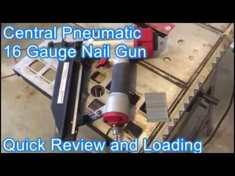 Central Pneumatic Nail Gun