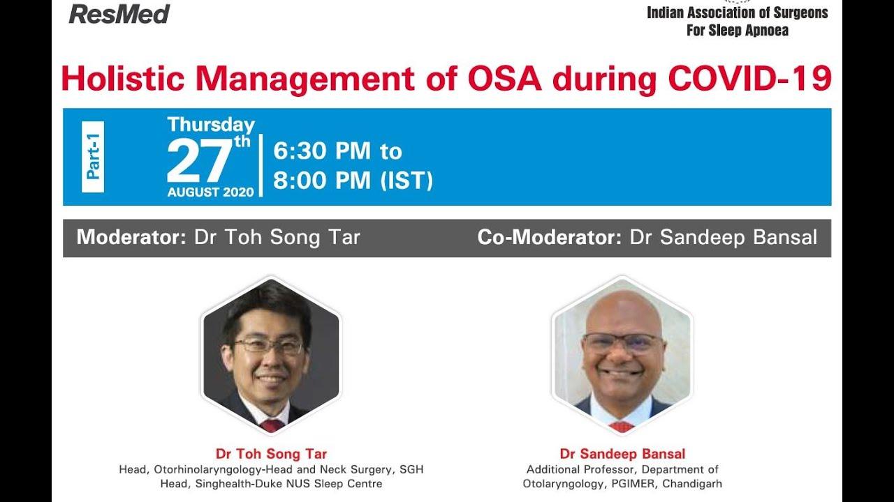 Holistic Management of OSAS 27 08 2020