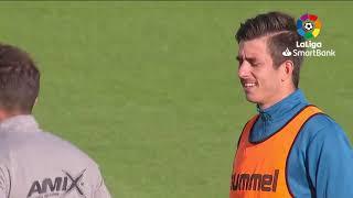 Calentamiento Albacete BP vs Real Oviedo