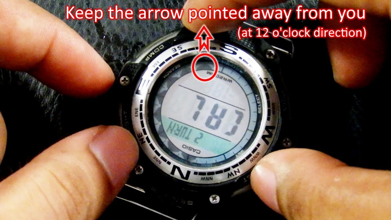 e89b9242c98 How to Calibrate Casio SGW-100 Compass - YouTube