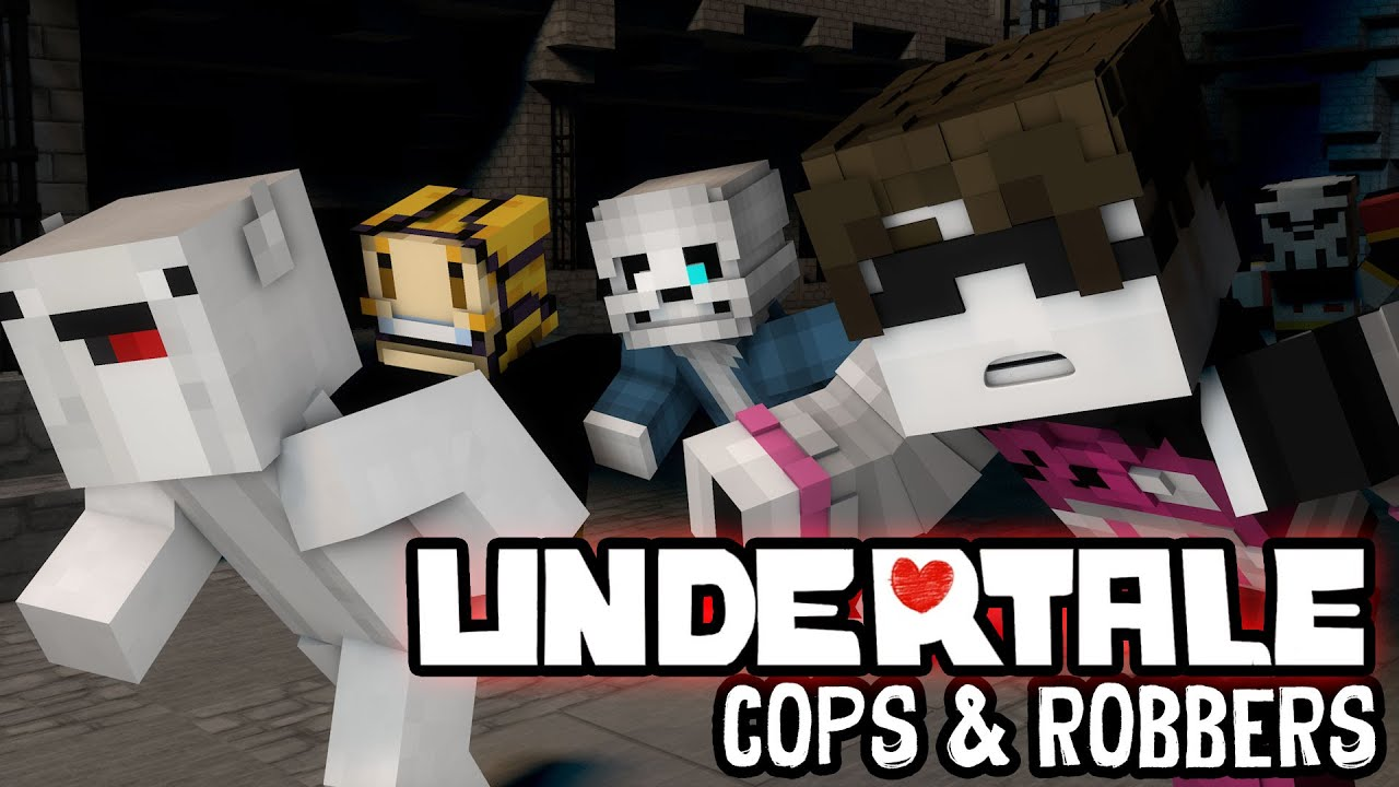 Minecraft Mini-Game: COPS N ROBBERS! (PAPYRUS' PRISON!)