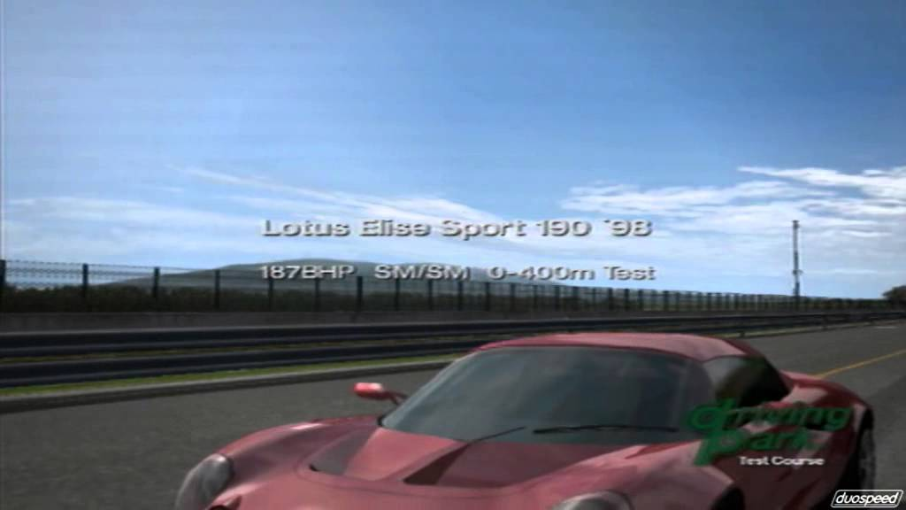Gran Turismo 4 Lotus Elise Sport 190 Quarter Mile Drag Race