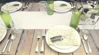 Modern/rustic Diy Backyard Garden Wedding Reception Tablescape & Décor -- Mywedding