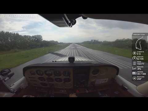 Cessna 172N VFR Flight Bad Weather at Destination