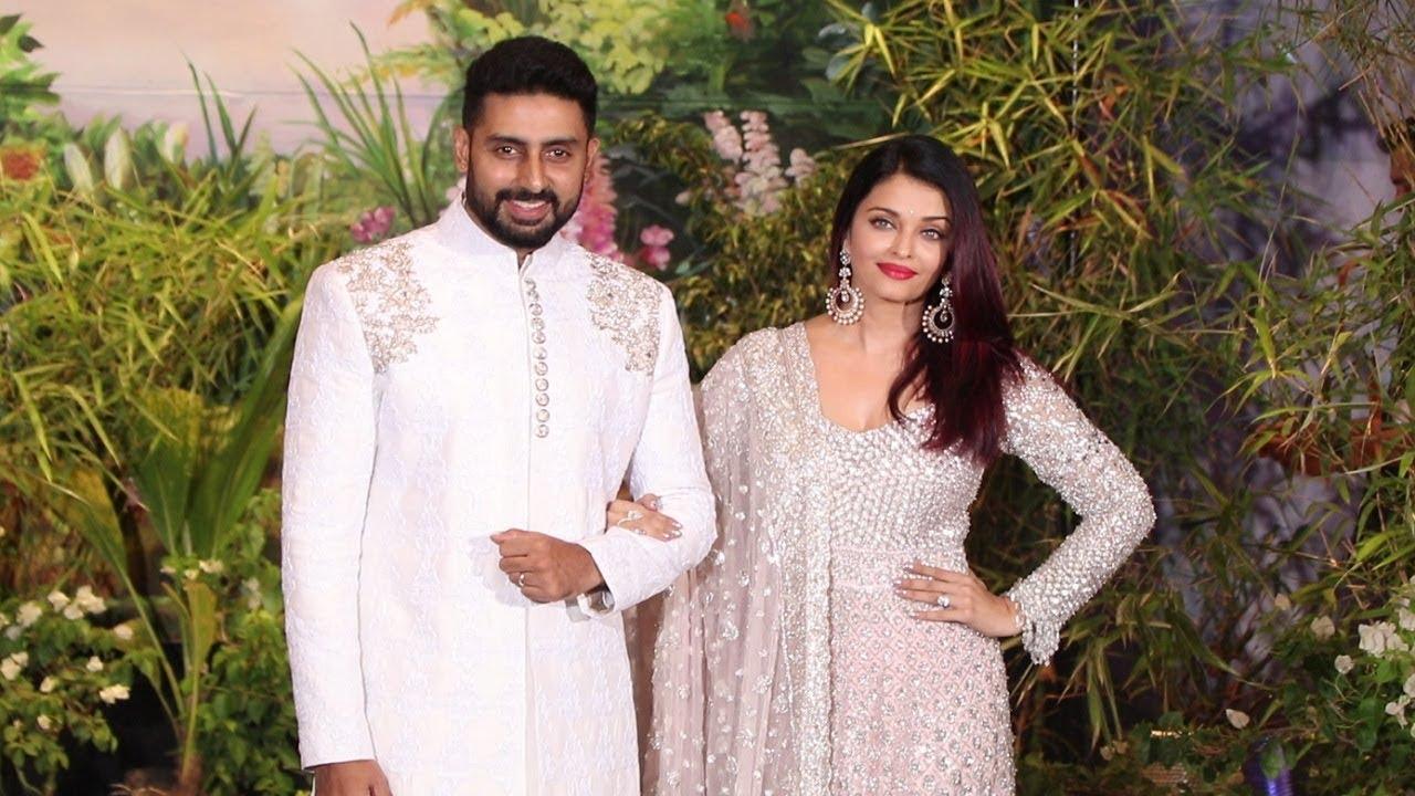 Aishwarya Rai And Abhishek Bachchan At Sonam Kapoor Wedding Reception