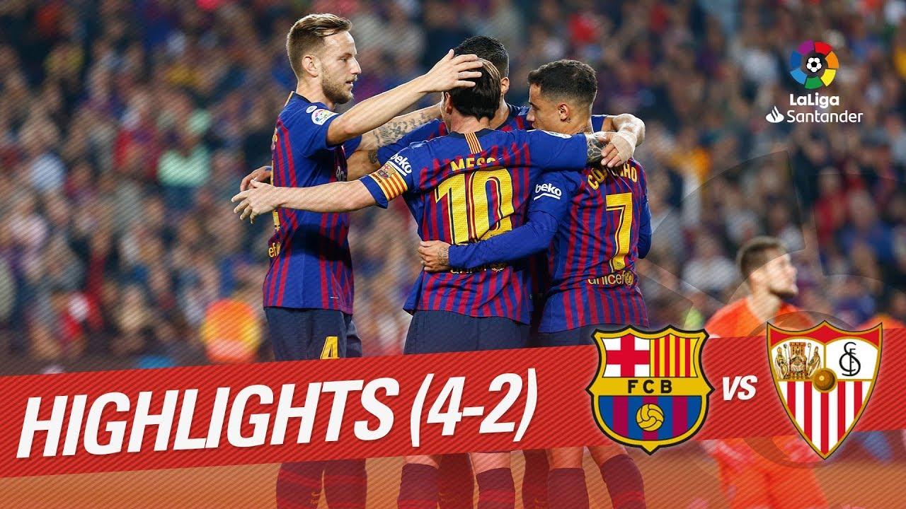 disfruta del envío gratis gama exclusiva zapatillas de skate Highlights FC Barcelona vs Sevilla FC (4-2)