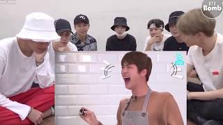 BANGTAN BTS reaction - BTS ( challenge to stop laughing with Jungkook )