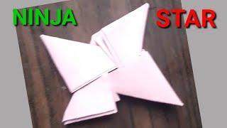 how to make origami ninja star - paper ninja star - easy origami - DIY