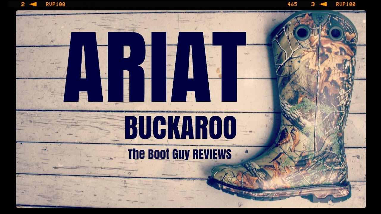 edc1b479295c5 ARIAT Conquest Rubber Buckaroo STYLE # 10018697 [ The boot guy reviews ]