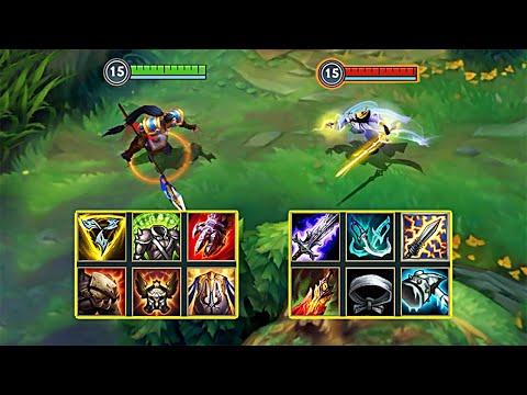 MASTER YI Vs XIN ZHAO FULL BUILD FIGHTS - League Of Legends: Wild Rift