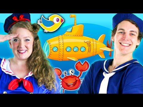 Submarine - Kids Song - Learn Sea Animals