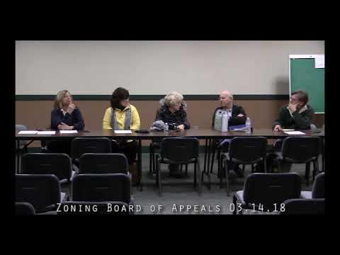 Zoning Board of Appeals 03.14.18