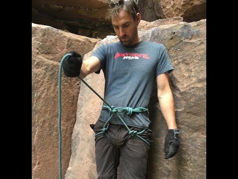 How to make a harness out of your rope because you forgot yours at home