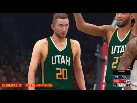 WASHINGTON WIZARDS VS UTAH JAZZ FEBRUARY 26, 2017 NBA 2K17 SIMULATION