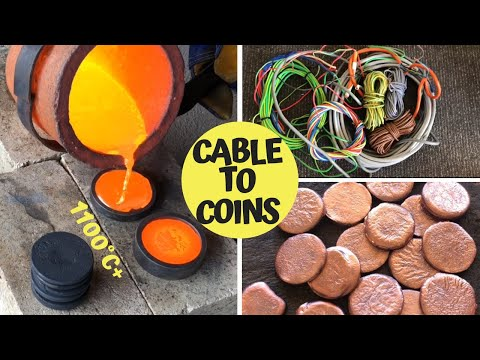 Trash To Treasure - Cable To Coins - Pouring Copper Coins Fr