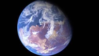 5億年前の地球。ゴンドワナ大陸のシミュレーション