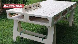 Paulk Homes Plywood Work Bench Created With Amana Tool Industrial Saw Blade & Cnc Router Bits