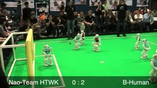 B-Human vs. Nao-Team HTWK, RoboCup 2013, SPL Final, 1st Half