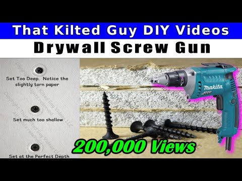 How To Easily Drive Drywall Screws with a Drywall Screw Gun, for Beginners  or Pros