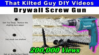 How To Drive Drywall Screws Like The Pros When Hanging Sheetrock