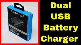 Sandberg Saver Powerbank 5000 - 5000mAh Mobile Dual USB Portable Charger
