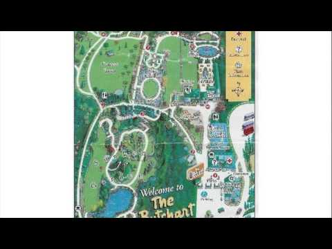 Amazing Butchart Gardens Map