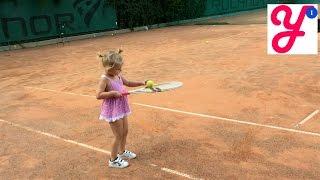 Первая тренировка в теннис для детей - Our first tennis for kidstraining