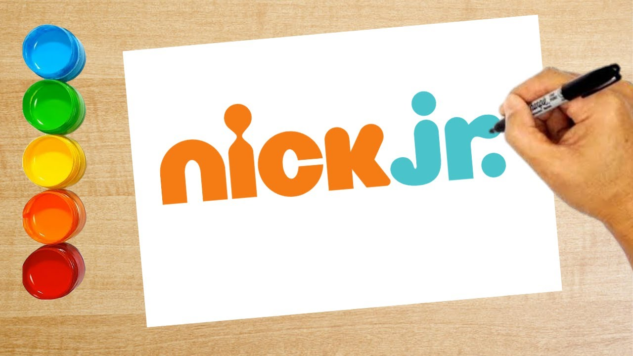 How to draw the nick jr. logo / Coloring pages, Coloring book for kids