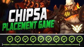CHIPSA INSANE DOOMFIST! FINAL PLACEMENT GAME! [ OVERWATCH SEASON 9 TOP 500 ]