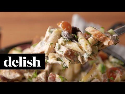 Greek Chicken Pasta   Delish