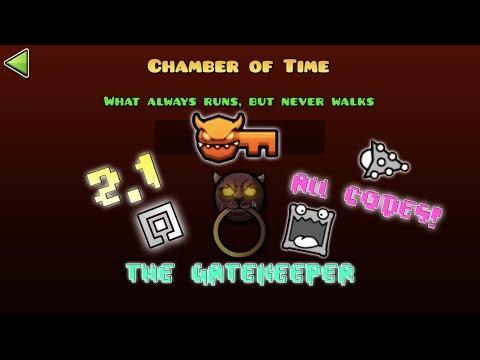 Geometry Dash 2.1 - Unlocking The Gatekeeper, Chamber Of Time Vault Codes!