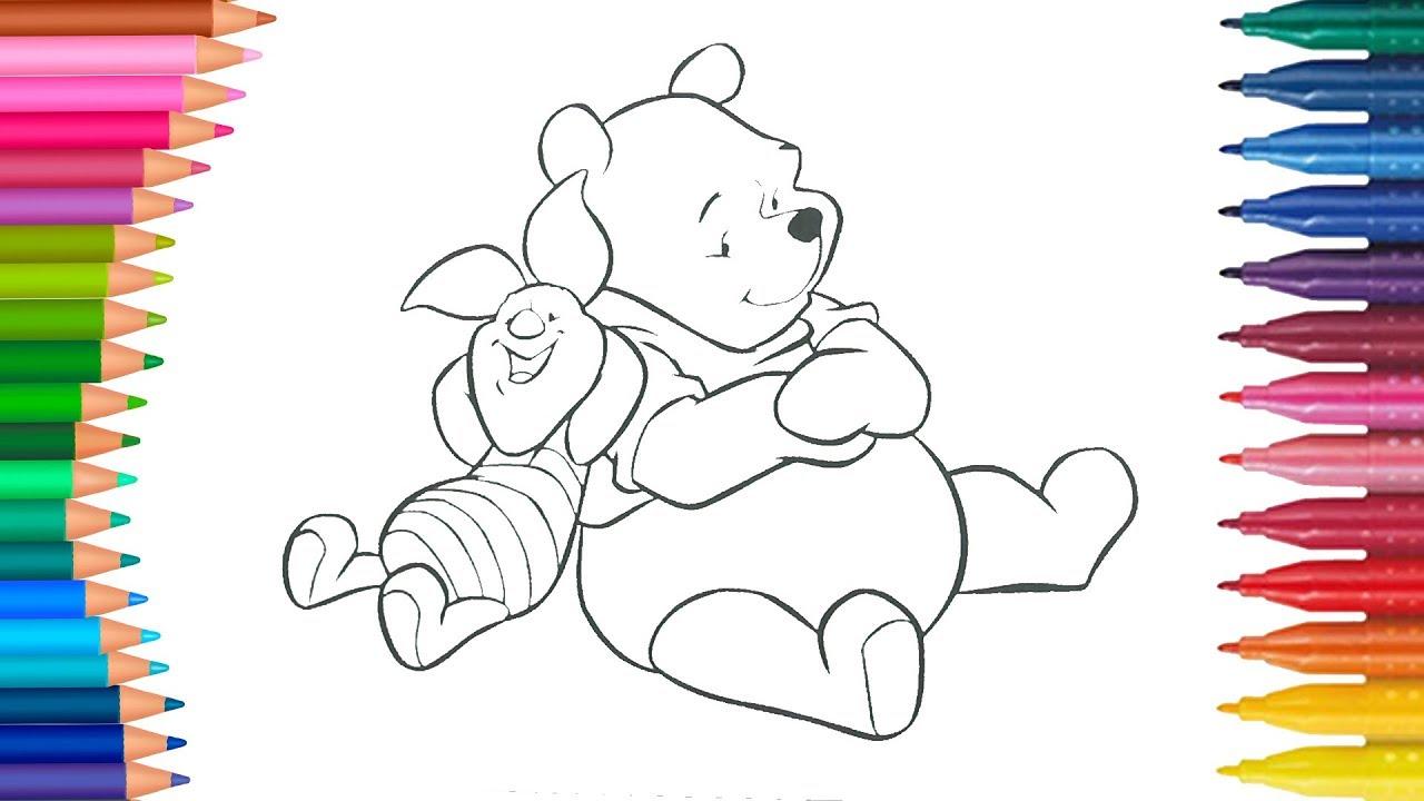 Winnie The Pooh Ve Piglet Cocuklar Icin Boyama Sayfasi Boyama