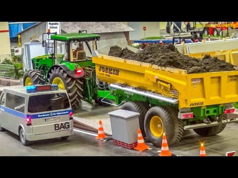 RC Tractor overload!? Police control in HUGE 1/8 scale!