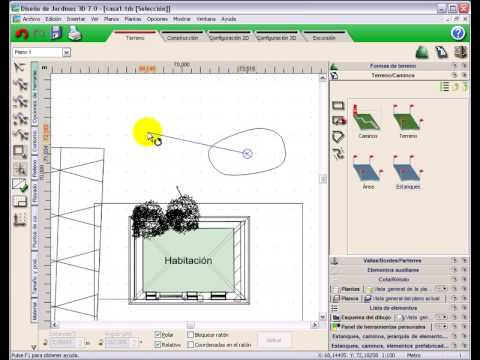 diseño jardines 3d 7.0 tutorial video #1 crear un estanque - youtube