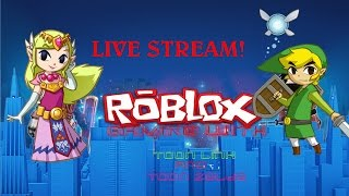 Roblox Gaming With Toon Link and Toon Zelda! Live Stream