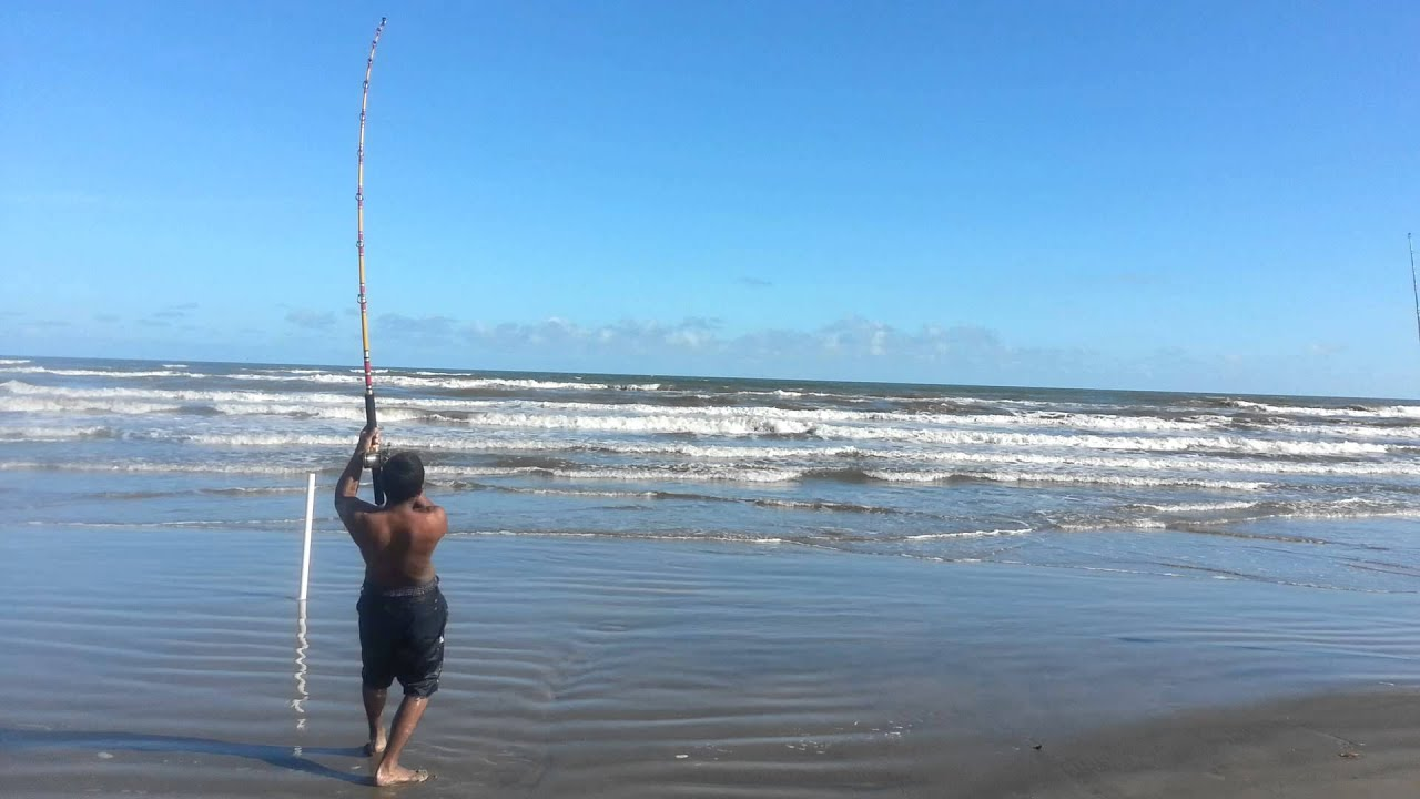 Galveston tx surf fishing 10 7 14 bull redfish 2 catch for Fishing galveston tx